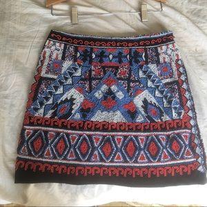 Handmade beaded skirt